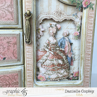 Altered Art Graphic 45 Gilded Lily Jewelry Box Armoire by Scrapbook Maven thrift store find for a princess
