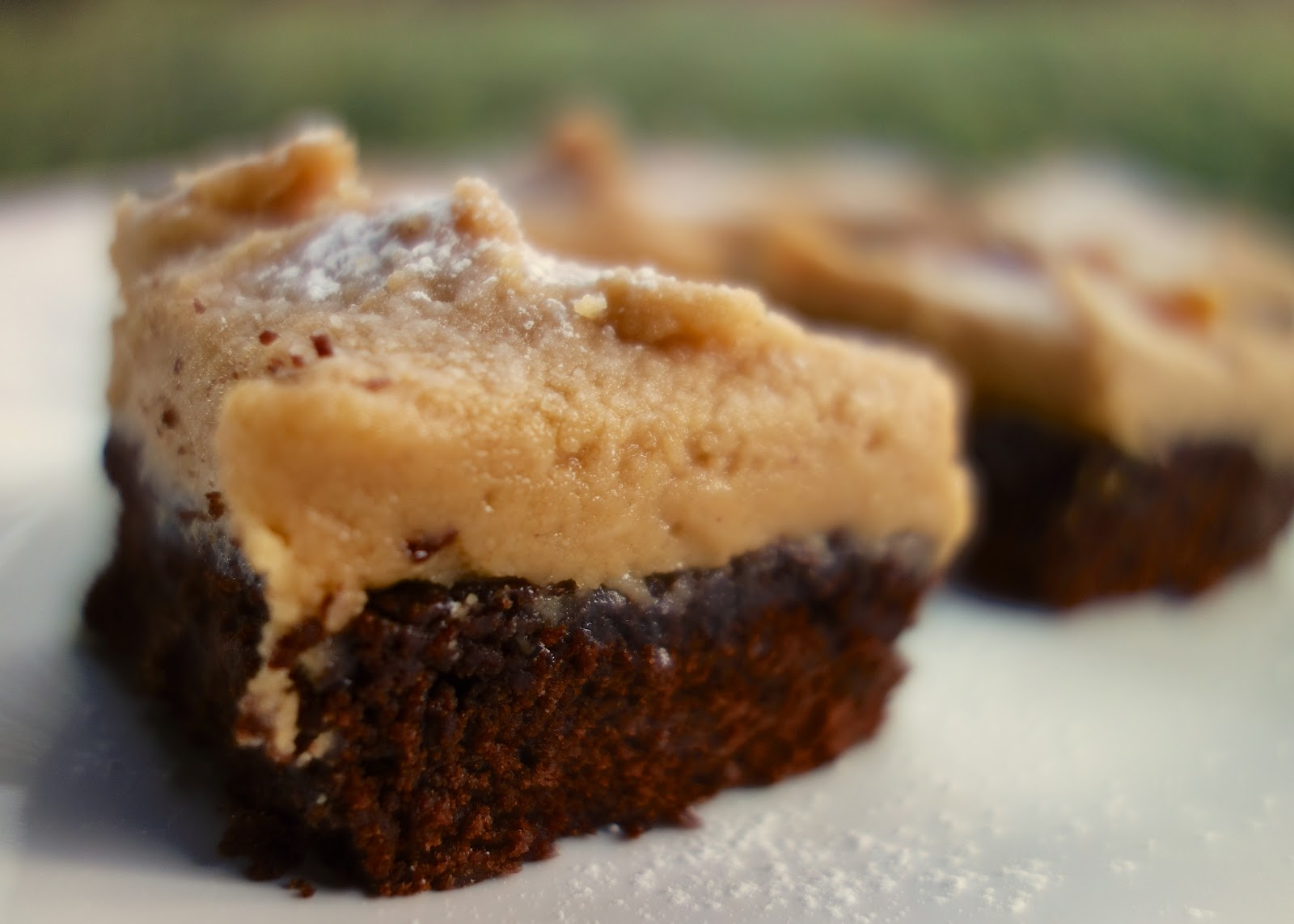 Peanut Butter Frosted Brownies - Plain Chicken