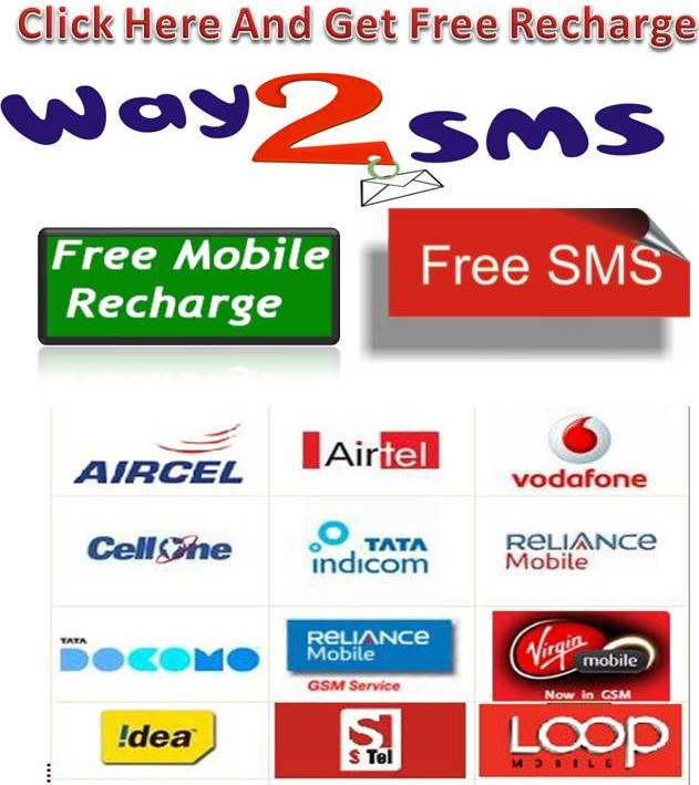 Click The Below Image To Earn Free Recharge Are To Send Free Sms....