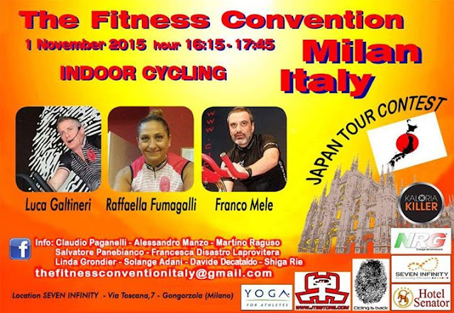 The fitness convention - Indoor Cycling - dal 31 al 1 Novembre , presso Seven Infinity di Gorgonzola , Via Toscana 7 ( Milano )
