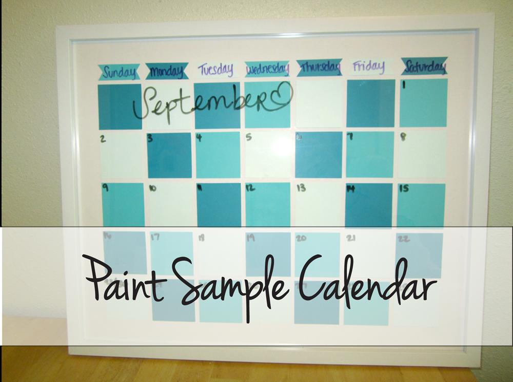 Paint Sample Calendar Diy : Scissors and pearls paint sample calendar