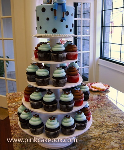 borrowed heaven pinterest day 29 baby shower cupcake tower