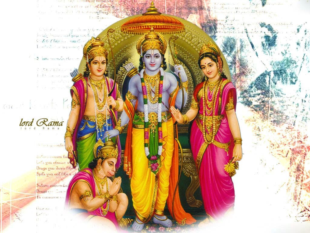 Hanuman in which they are sitting with Ram-Sita