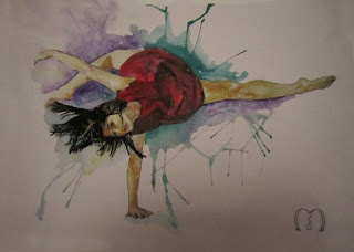 modern dance watercolors by metris