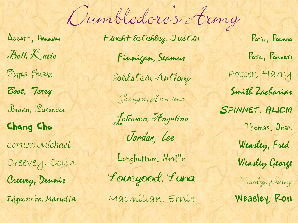 Here are some photos of the real dumbledore s army i thought i should give credit where credit is due