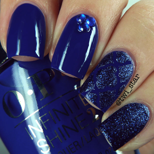OPI Infinite Shine Indignantly Indigo nail polish swatch review