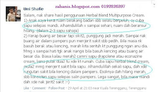 testimoni multipurpose cream shaklee
