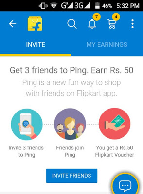 How To Get Rs 50 Flipkart Gift Voucher By Inviting 3 Friends