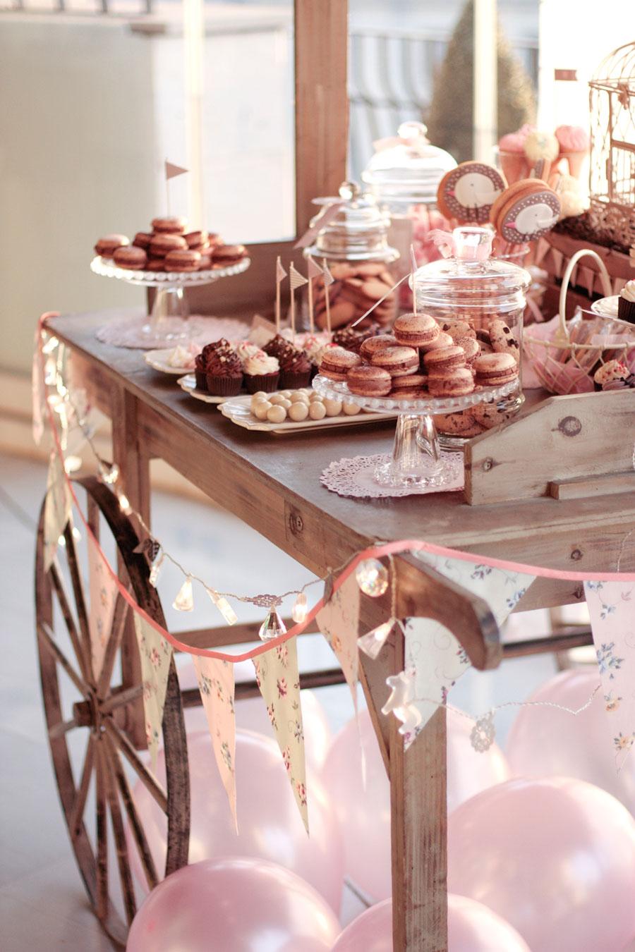 Sweet table buffet dulce decoraci n de mesas para el - Decoracion de mesa de bautizo ...