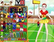 لعبة تلبيس فتيات كاس العالم
