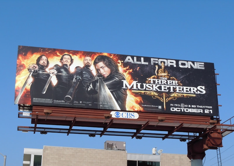 Three Musketeers movie billboard