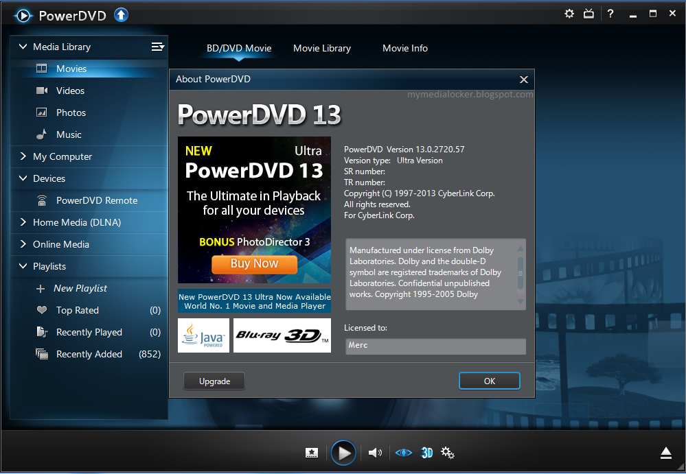 New crack powerdvd 13;. Progress in improving audio and Visual. throwing m
