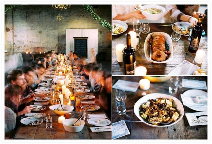 Fly Me To The Moon Trend Alert Family Style Reception Dining