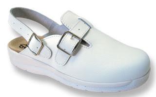 zapato enfermera blanco
