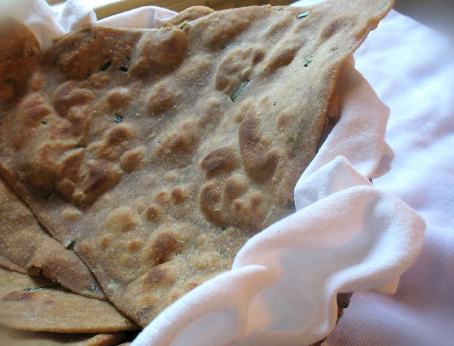 Indian corn and whole wheat paratha