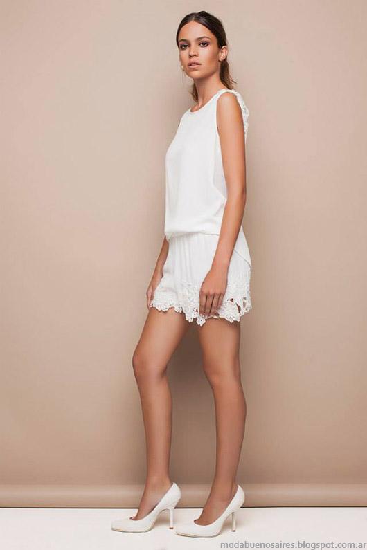 Moda Argentina Awada primavera verano 2015. Total looks blanco 2015.
