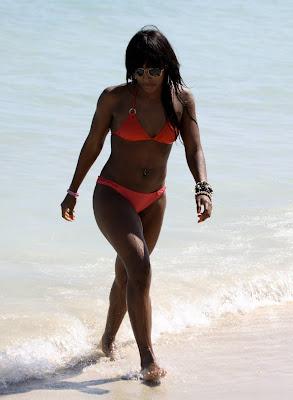 Alexandra Burke Bikini Candids