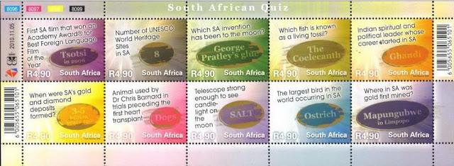 (原创)南非邮票欣赏4:邮票上的知识测验 - 六一儿童 - 译海拾蚌