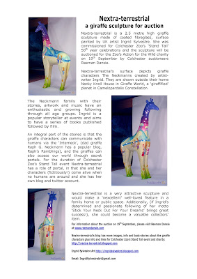 Giraffe collectors can big for Nextra-terrestrial sculpture at auction 19 Sept 2013