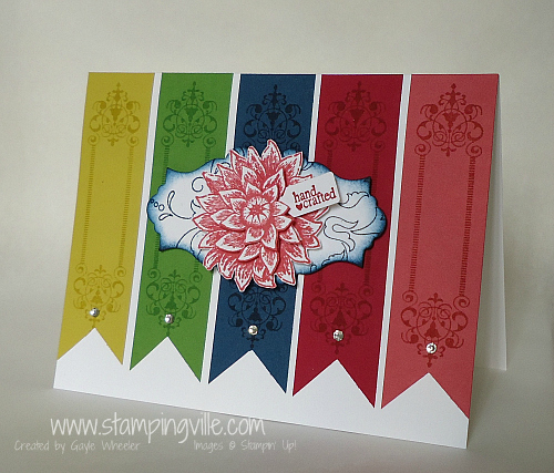 Vintage Look Greeting Card Featuring New Stampin' Up! In Colors