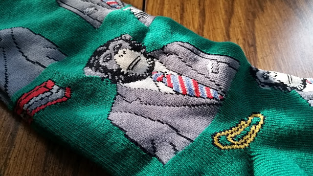 Business monkey socks design