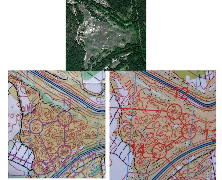 Фрагменты карты нарисованной разными авторами.
