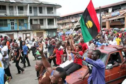 street Protests over Nnamdi Kanu arrest.