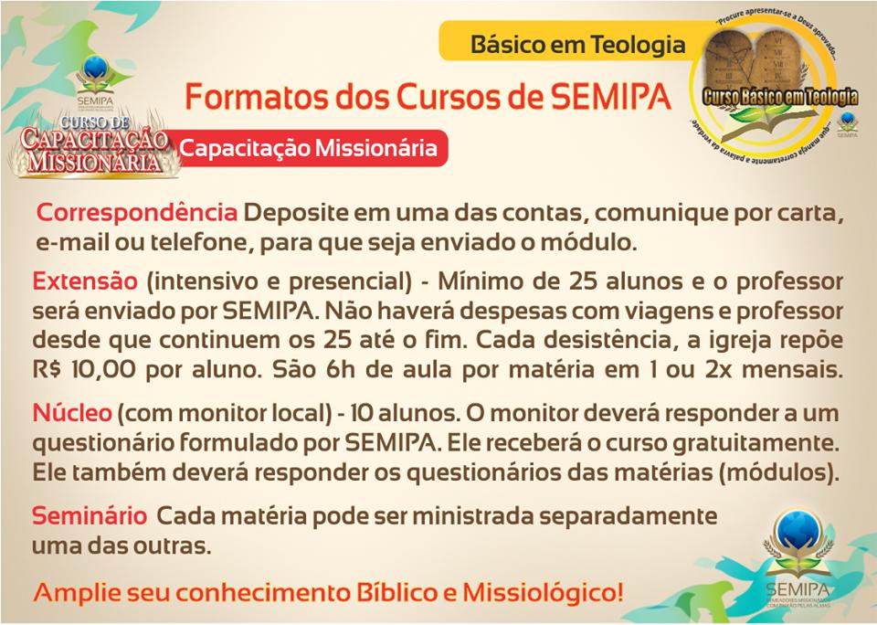 CURSO DE CAPACITAÇÃO MISSIONÁRIA DE SEMIPA