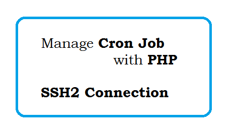 Manage Cron Job with PHP - SSH2 Connection