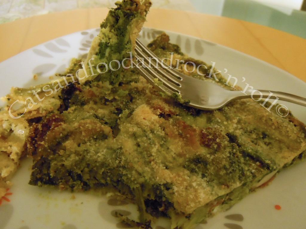 sformato di broccolo fiolaro con speck