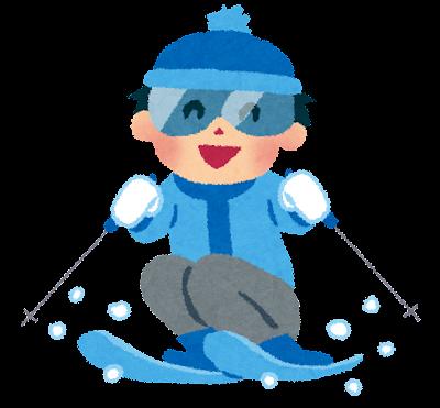 スキーのイラスト「男の子」