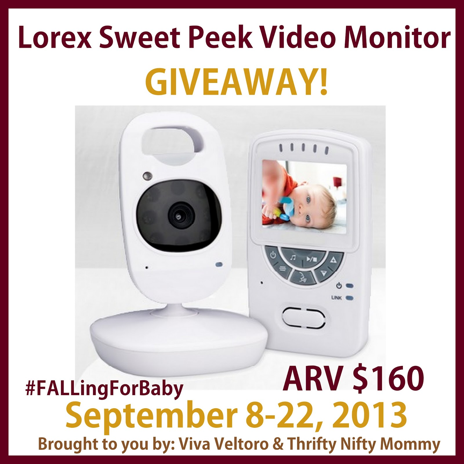 lorex sweet peek video monitor giveaway fallingforbaby thrifty nifty mommy. Black Bedroom Furniture Sets. Home Design Ideas
