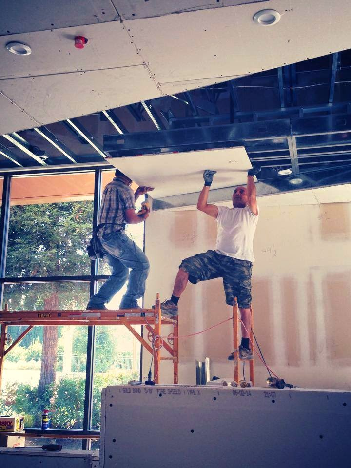 The ceilings are currently being installed at Aroha in Westlake Village.