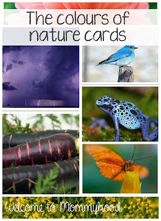 Free printable Colours of nature cards by Welcome to Mommyhood #freeprintables, #montessori, #toddleractivities