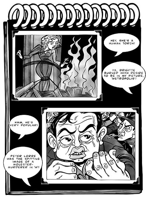 Fritz Lang comix panel by Sophie Cossette
