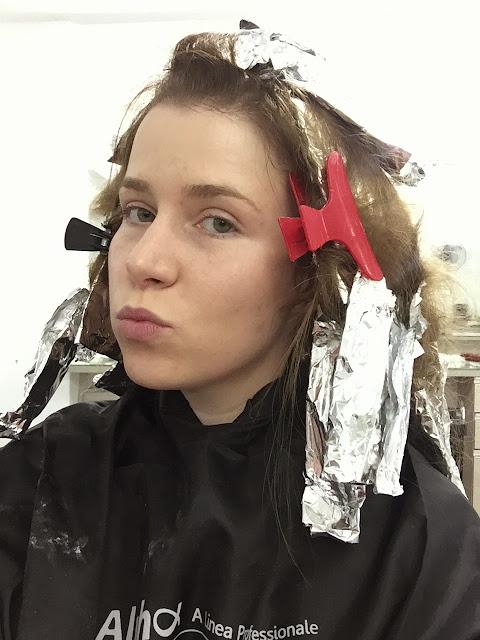 ombré hair em cabelo loiro