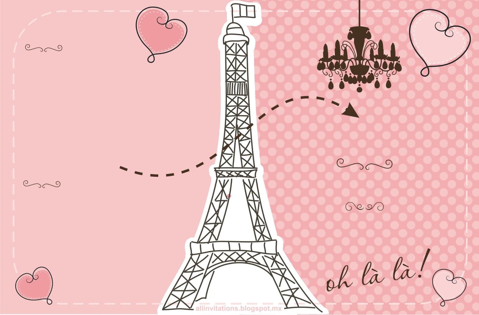 Invitaciones De 15 Anos Tema Paris