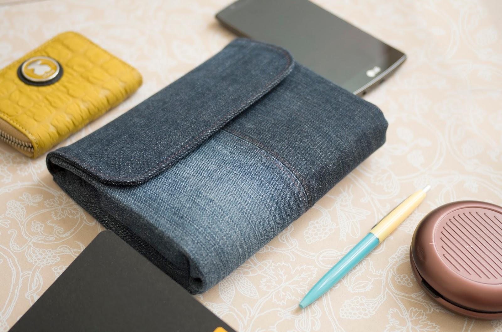 Сшить клатч из джинс