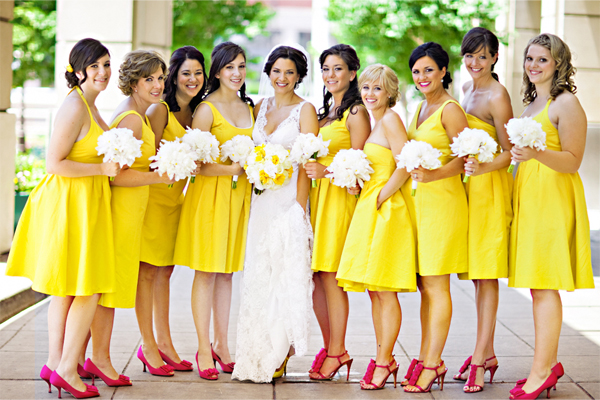 Yellow Summer Bridesmaid Dresses 82