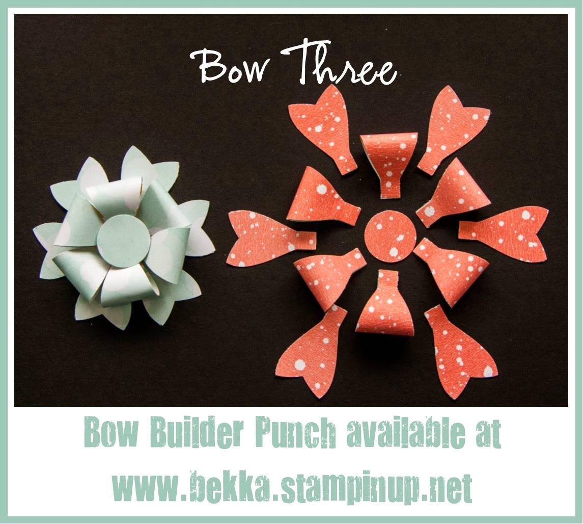 3 Fun Things you can do with the Bow Builder Punch from Stampin' Up! UK - Free Tutorial here