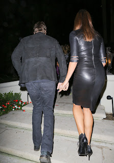 Cindy Crawford great ass in tight leather dress