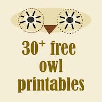 Free owl printables: