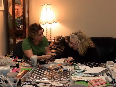 cardmaking class photos