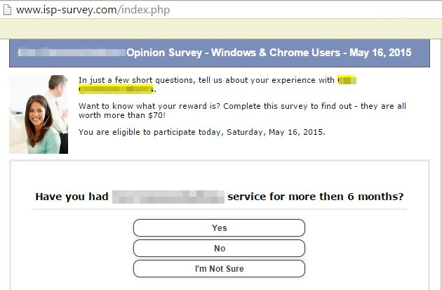 Survey freebies virus