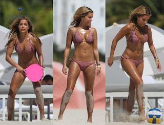 Sylvie van der Vaart Purple Bikini Miami