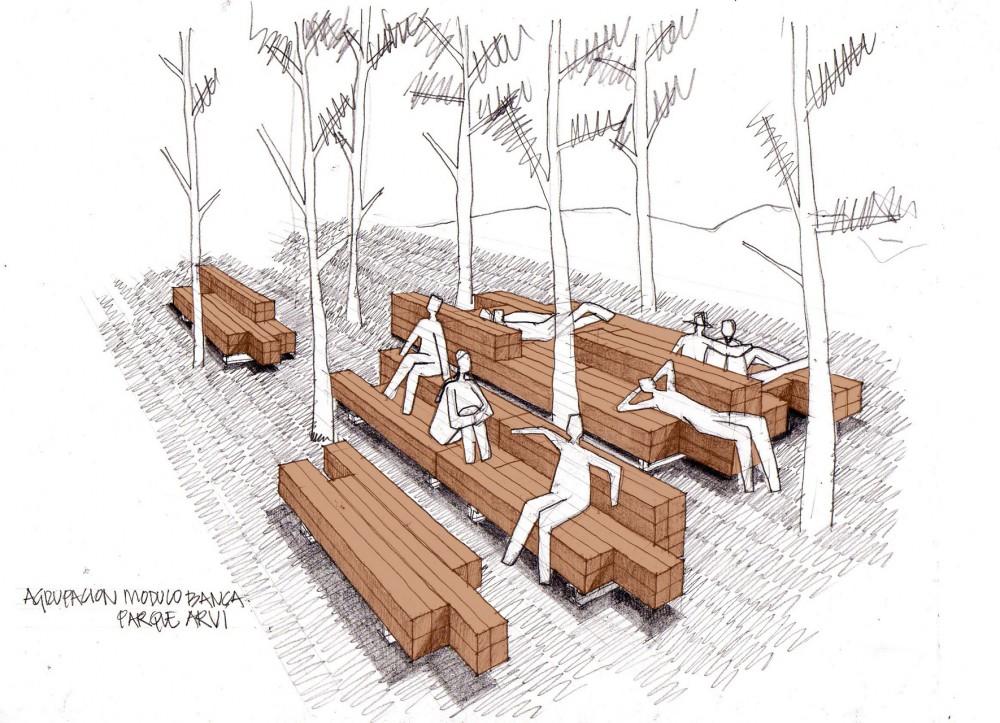 El plan z arquitectura escala urbana arquitectura for Ejemplos de mobiliario urbano
