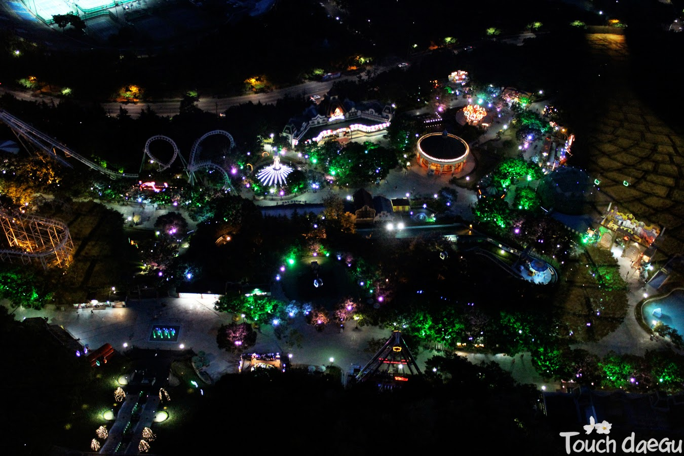 The night view of E-world