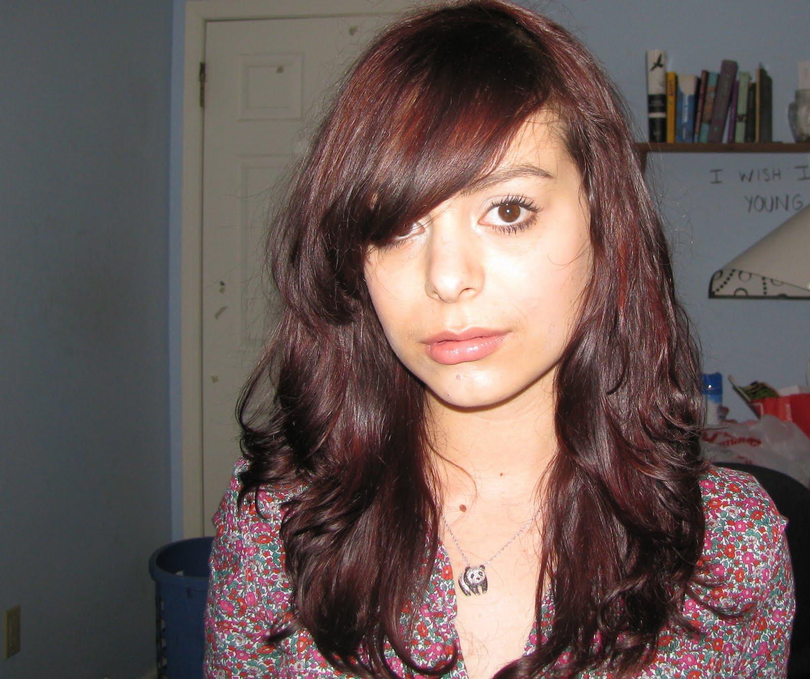 Deep Burgundy Brown Hair Color