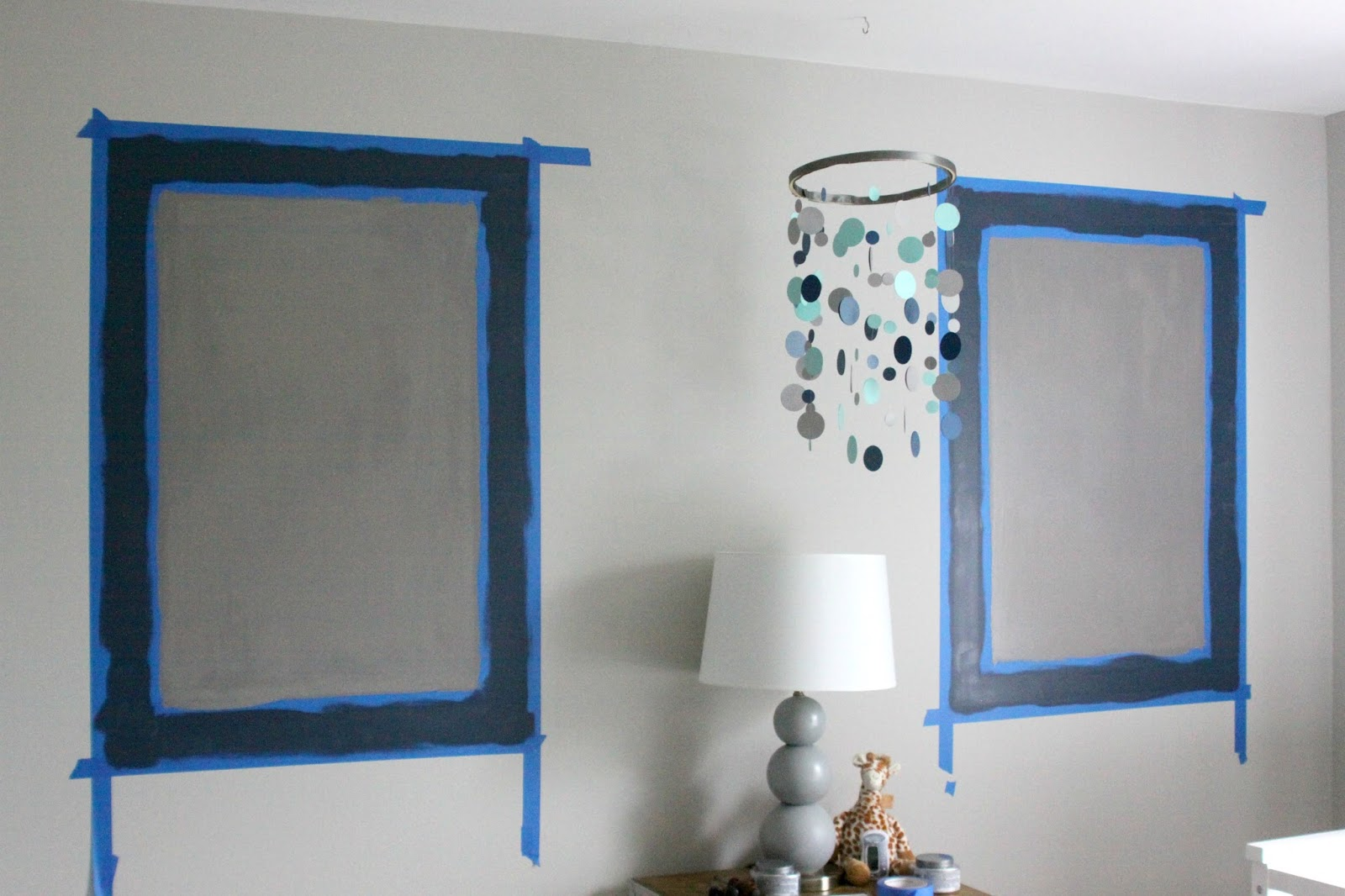 Our Pinteresting Family: Painted Wall Frames for the Nursery