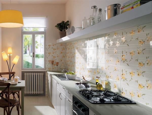 pola unik dinding dapur rumah minimalis rancangan desain